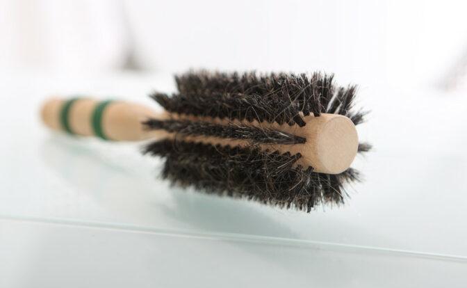 brosse en vrais poils de sanglier